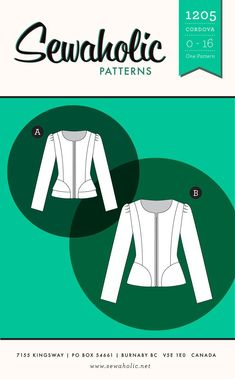 Cordova Jacket sewing pattern by Sewaholic Patterns, fitted jacket with zipper closure, peplum jacket, jacket pattern with lining, women's fitted princess seam jacket for work or casual wear. Liberty Of London, Gilet Kimono, Tweed, Do It Yourself Fashion, Dress Making Patterns, Peplum Jacket, Sewing Hacks, Sewing Projects, Sewing Ideas