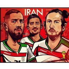 Stars of Iranian football Iran National Football Team, Volleyball, Basketball, Water Polo, Iranian, Comic Books, Wrestling, Baseball Cards, Stars