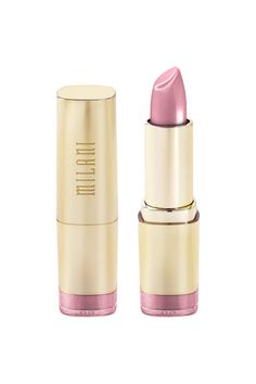 """The Best Soft Pink  A super shimmery version of the ubiquitous """"millennial pink"""" you're seeing everywhere these days.  Milani Color Statement Lipstick in 'Pink Frost,' $6; walgreens.com."""