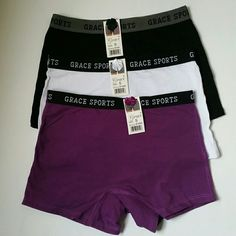 Womens Boxer Shorts Colorful & Comfortable  95% Cotton 5% Spandex  Would fit a size 00, 0, 1. *This price is not negotiable, it is at the lowest it can be. Any lower and I would lose due to Poshmark Fees. Feel free to make offers on other items. Thank you.  Machine washable  Air dry only. Grace Sports Intimates & Sleepwear Panties