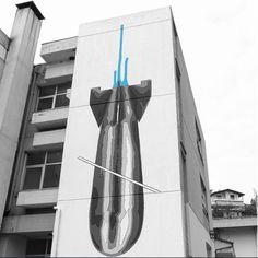 INO for Lobart Festival in Naousa, Greece, 2017 Athens, Greece, Street Art, Outdoor Decor, Artwork, Greece Country, Work Of Art, Auguste Rodin Artwork, Artworks