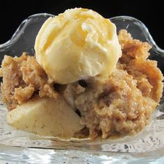 """Cider Donut Bread Pudding 