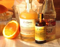 Ingredients for the 'Flu Shot' cocktail