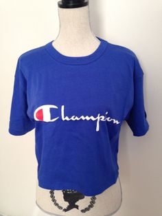 Vintage Champion Cropped Tshirt by 21Vintage on Etsy