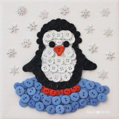 Repeat Crafter Me: Penguin Button Art