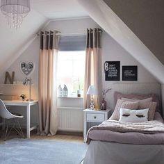 attic remodel ideas attic remodel ideas # - Sovrum inspo - Home Renovation Attic Bedroom Designs, Bedroom Loft, Dream Bedroom, Modern Bedroom, Girls Bedroom, Bedroom Decor, Dream Rooms, My New Room, Bedroom Colors