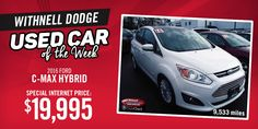 We know you won't be disappointed with this 2016 C-Max hybrid!  Contact us now for more information!