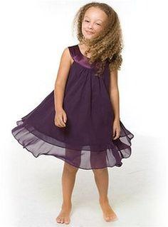 Corte A/Princesa Escote halter Longitud de té Chifón  Charmeuse Vestidos para niña de arras con Nada (010007604)