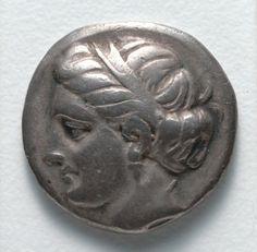Drachma: Female Head (obverse), c. 369-336 BC Greece, 4th Century BC  silver