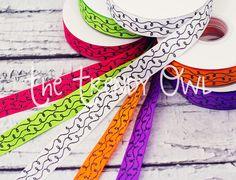 Black Glitter Swirls! <3  Shop our designer ribbon now @ www.thetrendyowl.com