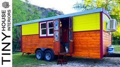 Gypsy Wagon Tiny Home on Wheels Tiny House Family, Interior Work, Gypsy Wagon, Top Drawer, Tiny House On Wheels, Steel Frame, Rustic, Home, Country Primitive