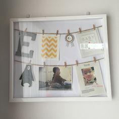GAMIさんの、ハンドメイド,DIY,モノトーン,雑貨,子供部屋,白黒インテリア,写真,写真立て,のお部屋写真 Handmade Baby, Handmade Gifts, Newborn Pictures, Presents, Scrapbook, Baby Room, Album, Birthday, Diy Crafts