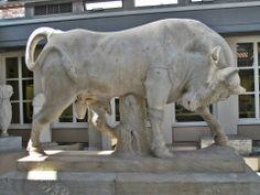 Bull from the grave enclosure of Dionysios of Kollytos, 345-340 BC, Museum of Kerameikos, Athens