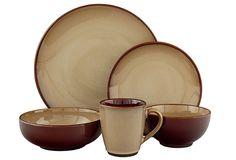 Sango Nova Brown Stoneware Dinnerware Set - Overstock™ Shopping - Great Deals on Sango Casual Dinnerware  sc 1 st  Pinterest & Sango 40-piece Nova Brown Stoneware Dinnerware Set - Overstock ...