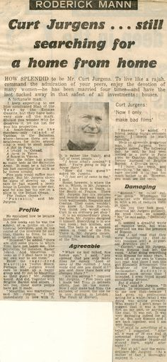 """Nachlass Curd Jürgens 
