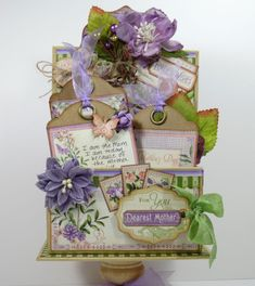 Want to make a beautiful Mother's Day gift like this? Annette has a tutorial with Time to Flourish! #graphic45