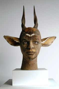 Kate Clark - antelope. I find this freaking frightening & I can't stop looking at it.