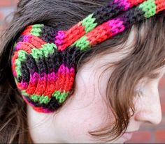 Free Knitting Pattern for I-Cord Earmuff Headband -Penolopy Bulnick's headband is made of three cords – two are swirled into buns to make the earmuff parts and the third is used to connect those buns and make it a headband. She used a French Knitter to create the i-cords but you can knit them by hand.