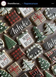 Christmas Goodies, Christmas Candy, Christmas Desserts, Christmas Treats, Christmas Time, Cabin Christmas, Fancy Cookies, Iced Cookies, Royal Icing Cookies
