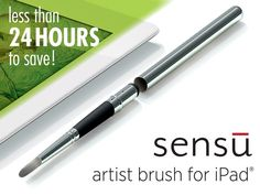 Pen for touch screens with a paintbrush styled tip as well!