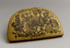 lacquer comb & mirror case 1878 by fath allah shirazi