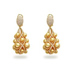 Museum 4x9mm Golden South Sea Pearl Earrings
