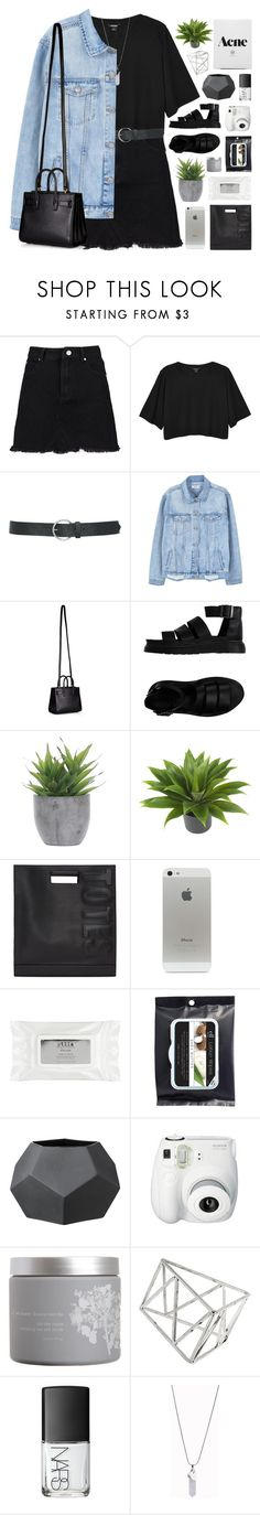 """BRISTOL"" by feels-like-snow-in-september ❤ liked on Polyvore featuring Monki, M&Co, MANGO, Yves Saint Laurent, Dr. Martens, Lux-Art Silks, Nearly Natural, 3.1 Phillip Lim, Stila and Bloomingville"