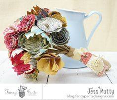 Paper Bouquet by Jess Mutty using the As You Wish and Burlap & Bouquets collections by FancyPantsDesigns.com