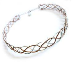 Celtic Braid Headband Circlet Two Tone Silver by FantasiaElegance