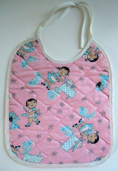 Vintage Campbell Soup Kid - Dolly Dingle Baby Bib. $12.00, via Etsy. I have this in Yellow :) I wore it as a baby...
