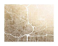 Atlanta Map by Alex Elko Design   Minted