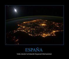 España vista desde la Estación Espacial Internacional (participio pasado) - Visit http://www.estudiafeliz.com for more materials for Spanish teachers and students!