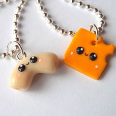 Mac and Cheese Best Friends Necklaces - Best Friends Jewelry - Miniature Food Jewelry - Food Charm Necklaces - BFF Gift - Friendship Charms