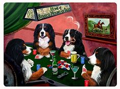 #Bernese Mountain Dog Tempered Cutting Board 4 #Dogs Playing #Poker Doggie of the Day http://www.amazon.com/dp/B004RYN142/ref=cm_sw_r_pi_dp_4tAbvb12X6P5W