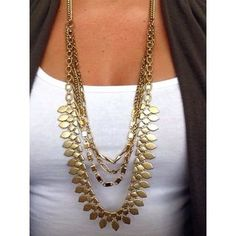 Wear this at least once a week! Layered Chain Gold Statement Necklace | Sutton Necklace | Stella & Dot | www.stelladot.com/angiemcclure