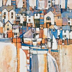 Martin Procter Abstract Art Diy, Art Photo Prints, Pavement Art, Painting, Abstract Art Inspiration, Painting Crafts, Watercolour Inspiration, Landscape Art, Building Art