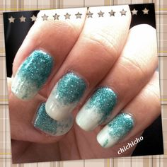 Turquoise Gradient | chichicho~ nail art addicts