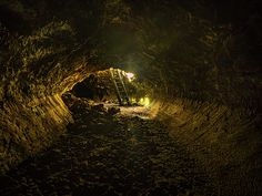 One of the tubes in the caves at Lava Beds National Monument in Northern California.