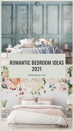 Need to create a serene bedroom packed with romance? We have the decor ideas just for you! From pretty floral wallpapers to moody lighting, discover the romantic bedroom ideas every grown up should have. Find these tips and more bedroom styling ideas at Wallsauce.com #bedroom #bedroomdesign #romanticbedroom Serene Bedroom, Beautiful Bedrooms, Thick Curtains, Floral Wallpapers, Types Of Rooms, Spare Room, Muted Colors, Color Trends, Colorful Interiors