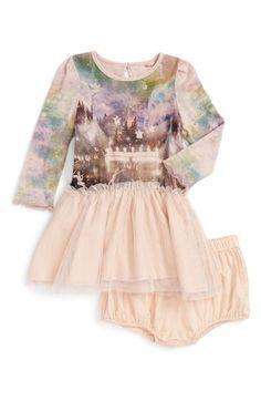 Stella McCartney Kids 'Primrose' Galaxy Circus Print Dress (Baby Girls) available at #Nordstrom