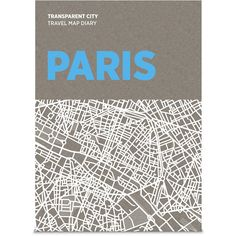 Palomar Transparent City Map Diary - Paris ($22) ❤ liked on Polyvore featuring home, home decor, office accessories, books, filler, paris, multi, recycled pencils, map pencils and recycled pens