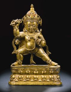 A GILT-BRONZE FIGURE OF VAJRAPANI<br>TIBET, 12TH/13TH CENTURY | Lot | Sotheby's
