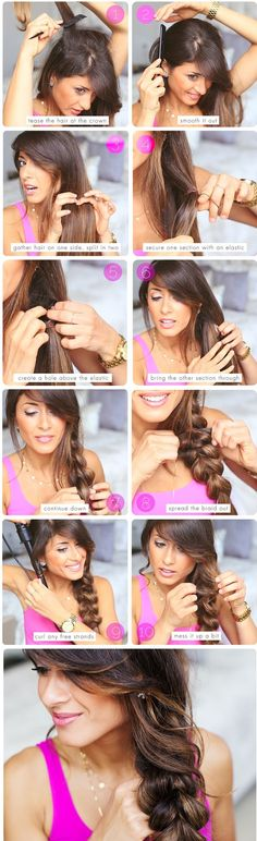"50 Simple Five Minute Hairstyles to snatch the attention: DIY "" Quick Hairstyles, In my opinion, hair ribbons/scarves are the prettiest hair accessories. They can make a messy bun or a ponytail look elegant. They can make a bad hair. Five Minute Hairstyles, Quick Hairstyles, Pretty Hairstyles, Easy Hairstyle, Braid Hairstyles, Popular Hairstyles, Hairdos, Hairstyle Ideas, Stylish Hairstyles"