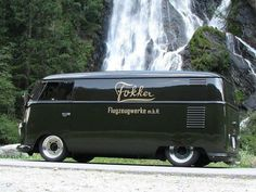 Ubercool T1 VW van with late Dutch airplane maker Fokker on the side