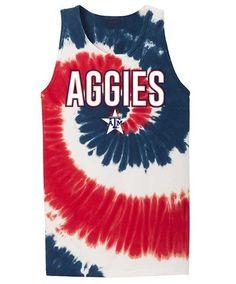 Texas A&M Aggies 4TH of July Tye Dye Tank Top