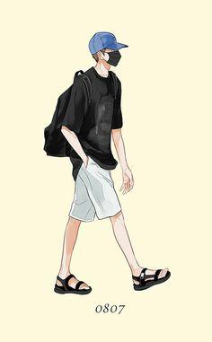 54 Ideas Funny Illustration Human For 2019 Cute Anime Boy, Anime Art Girl, Anime Guys, Funny Illustration, Character Illustration, Aesthetic Art, Aesthetic Anime, Pelo Anime, Boys Wallpaper