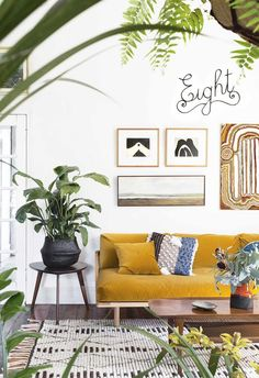 Make some ch-ch-changes at your place, using nothing but your own creativity with these 8 affordable home styling ideas. Living Room Setup, Living Room Sofa, Living Room Yellow, Living Rooms, Yellow Sofa, Style Deco, Room Colors, Home Decor Inspiration, Decor Ideas