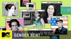 It's not every day that we get asked to combine feminism and a sense of humor in a project. So when MTV asked us to pitch ideas focused on bringing awareness… Gender Myths, Katherine Johnson, Channel Branding, Pixel Design, Collage Art Mixed Media, Mtv Videos, Profile Design, Media Design, Graphic Design Typography
