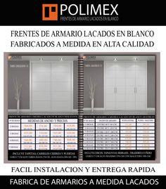 Cuando necesites comprar un armario a medida para tu casa o trabajo u oficina consulta primero la web de esta empresa. #armarios #lacados