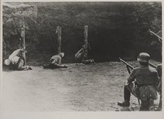 "Execution of 52 inhabitants of Bochnia and its surroundings carried out by the Germans on 18 December 1939. It was the first case of collective responsibility applied in Poland by the occupier. Two days earlier members of the local underground organization ""Orzeł Biały"" (White Eagle) attacked the police station, killing two Germans in combat. Otto Wächter, the Cracow District Governor was present at the execution as an observer."